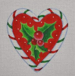 PBD/CCH03 Candy Cane Heart Holly