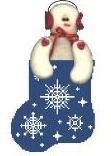 KSD/CM237 Snowflake Sock w Snowman