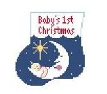 KSD/CM295 Baby's First Christmas Mini Sock