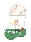 KSD/CM564C Softball Girl w/ Ball