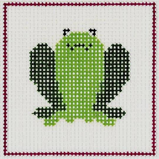 CN/A11 Frog Beginner Needlepoint Kit for Ages 7+