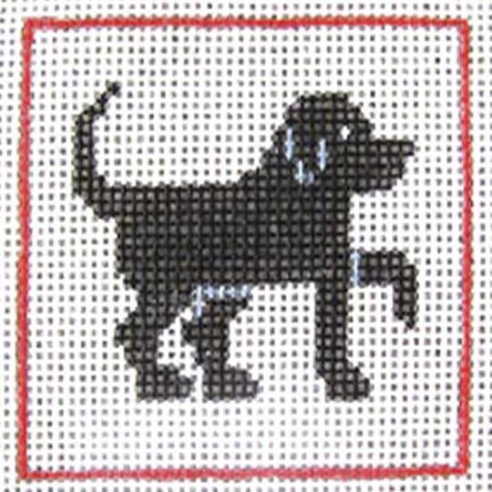 CN/A15 Black Lab Beginner Needlepoint Kit for Ages 7+