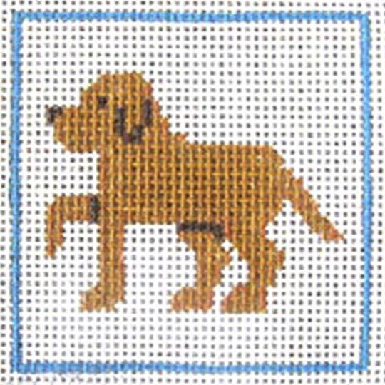 CN/A16 Golden/Yellow Lab Beginner Needlepoint Kit for Ages 7+