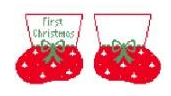 KSD/CO315 1st Christmas Red Baby Booties