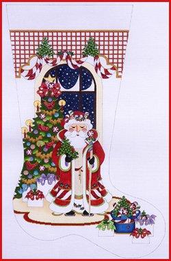 SC/CS144 Santa w/ Staff by Christmas Tree