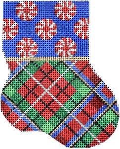 AT/CT1915 Peppermint Cuff/Plaid Mini Sock