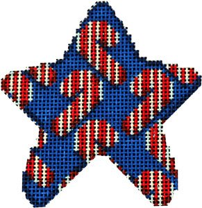 AT/CT2036 Candy Cane Scatter Mini Star