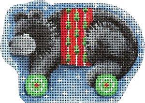 AT/CT2062 Black Bear/Wheels Ornament