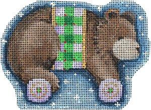 AT/CT2063 Brown Bear/Wheels Ornament