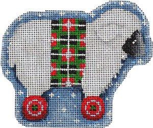 AT/CT2065 White Sheep/Wheels Ornament