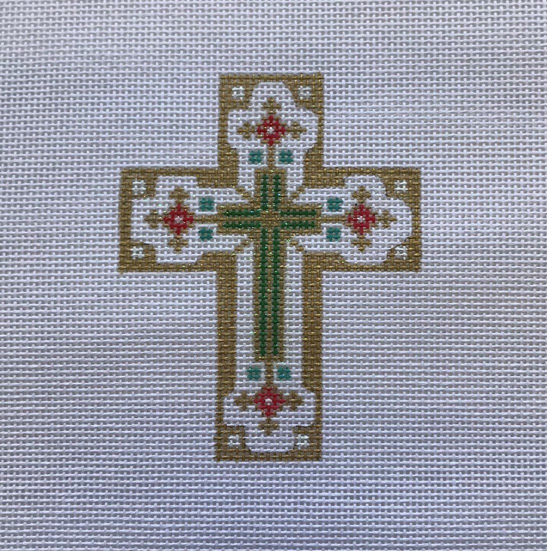 CRN/528JH Small Gold & White Cross