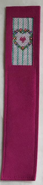 ANNEB/BKMKD Floral Heart  Handpainted Bookmark