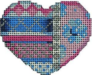 AT/HE673B Horizontal Patterns Blue/Pink Mini Heart