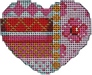 AT/HE673P Horizontal Patterns Pink/Red Mini Heart