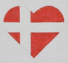 PBD/HT25 Denmark Flag Heart