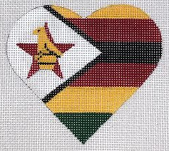 PBD/HT32 Zimbabwe Flag Heart