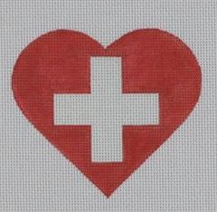 PBD/HT40 Swiss Flag Heart