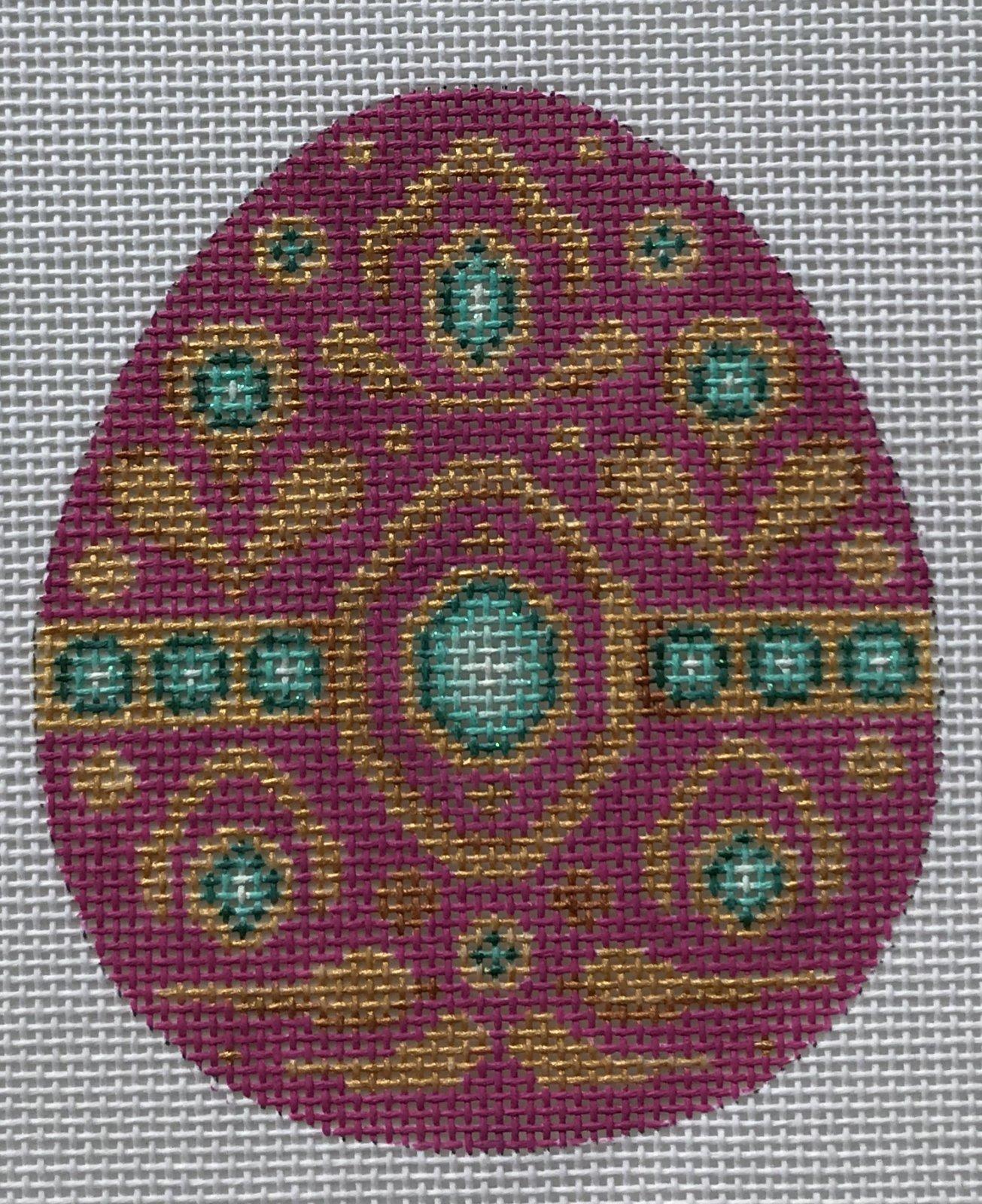 BB/2693 Jeweled Egg - Magenta & Gold