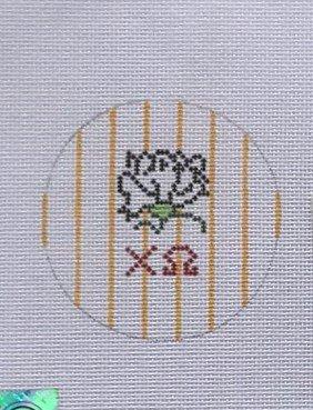 KPD/3RI Chi Omega Small Round