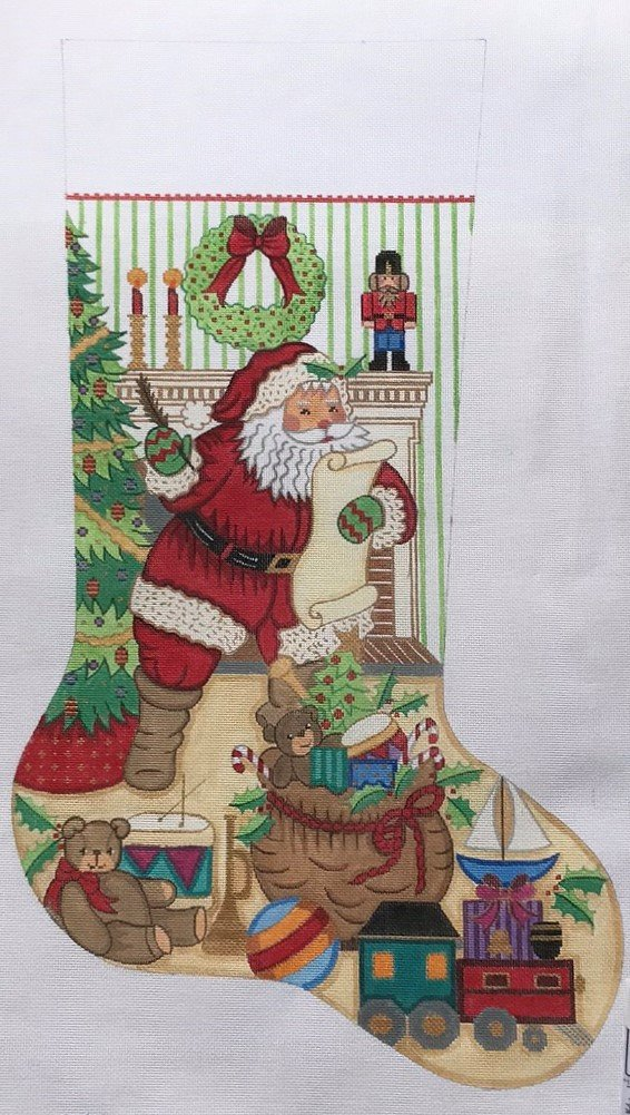 ALEXA/CS7330 Santa w/ List Boy Stocking
