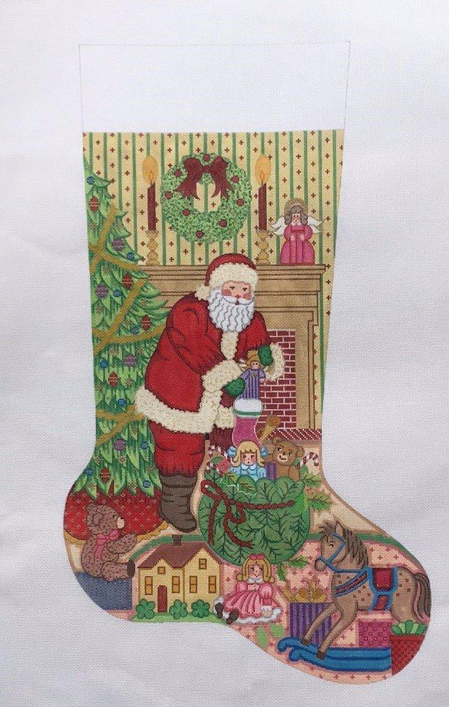 Alexa/CS7349 Santa Filling Girls Stocking