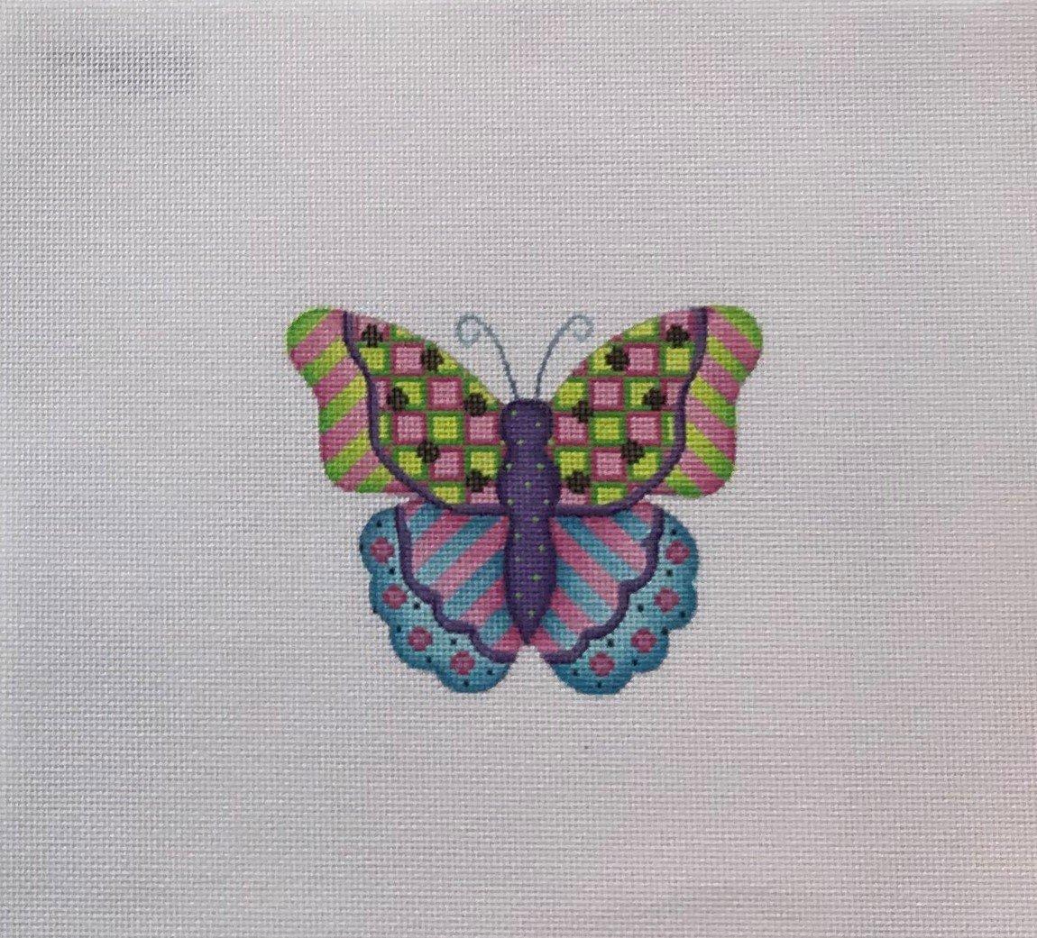 BB/3155 Butterfly - Blue, Pink, Green & Purple