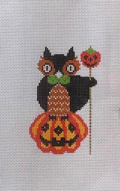 STDe/H61 Owl on Pumpkin