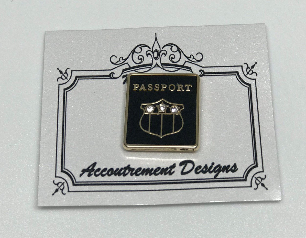 AD/MM006 Black Passport Magnet