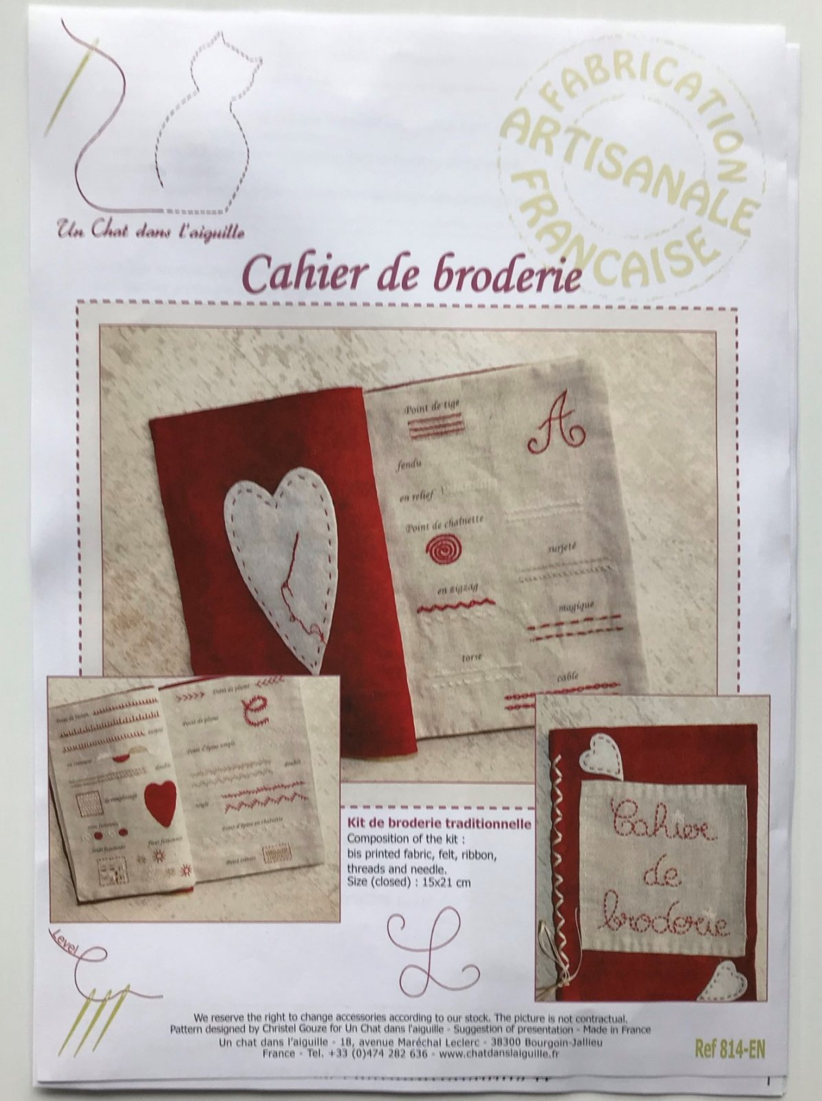 Un Chat Embroidery Notebook