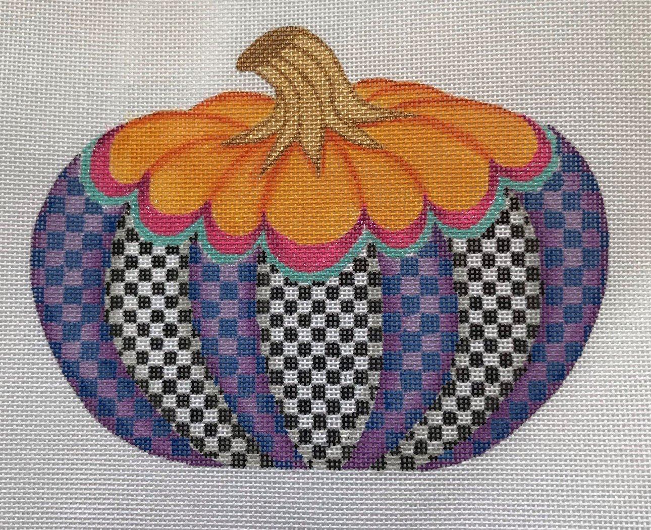 KDN/SST258 Funky Punkin #3 Orange Top/Multi Checkerboard Bottom