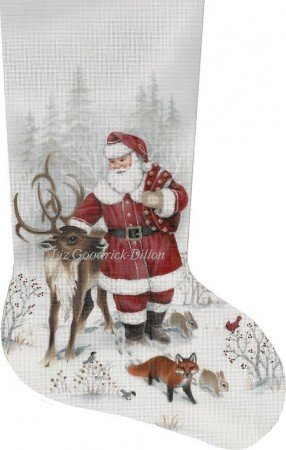 SR/LGDAXS488 Santa & Reindeer Stocking