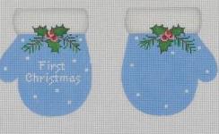PBD/MT02 First Christmas Mittens - Blue