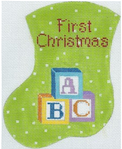 TMC/MX182 First Christmas Blocks Mini Sock
