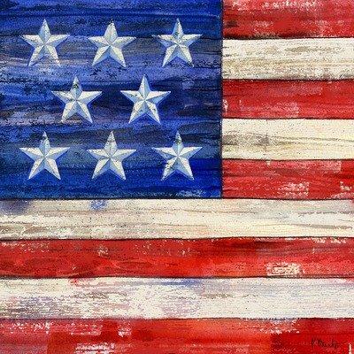 TCD/PB17820 All-American Flag I coaster
