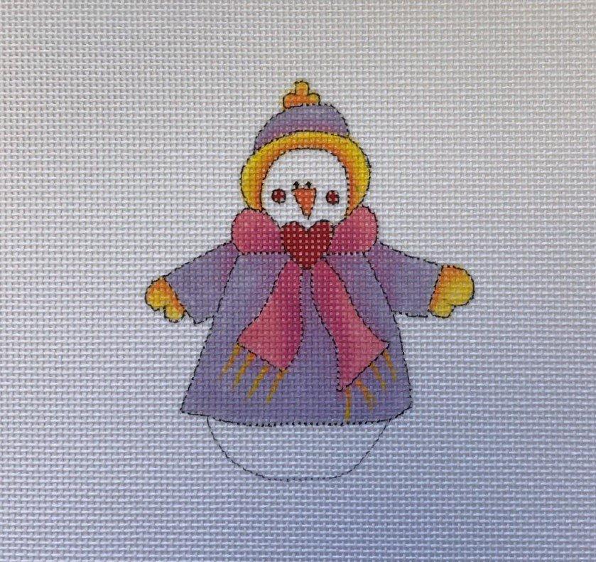 REN/NS140-10 Snowmen to Melt Your Heart - Purple Sweater