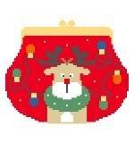 KSD/SH122 Reindeer Purse w Stitch Guide