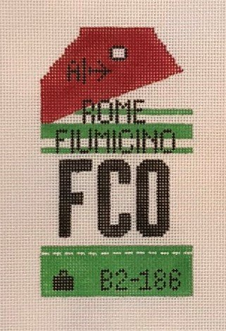 TPS/HH1-FCO Retro Luggage Tag - Rome