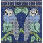 WG12123 Charles' Blue Owls Eyeglass Case - 13 ct