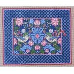 Wg12964 13 ct Strawberry Thief Long Pillow