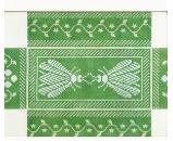 Wg/11642B N's Bee Brick - Green 13ct
