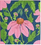 Wg/12040 Pink Echinacea 3 pc Pouch