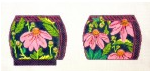 Wg/12152 Pink Echinacea Coin Purse