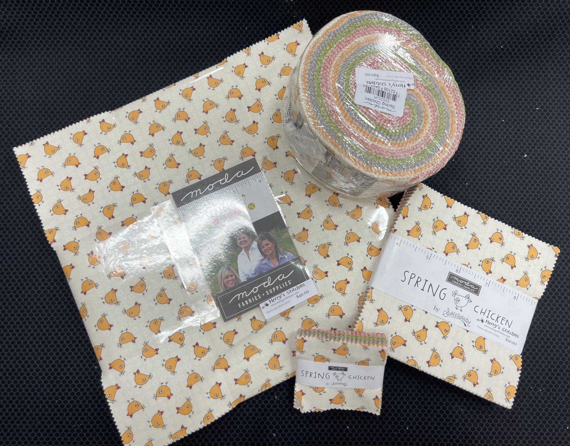 Spring Chicken Fabric Pre-Cuts