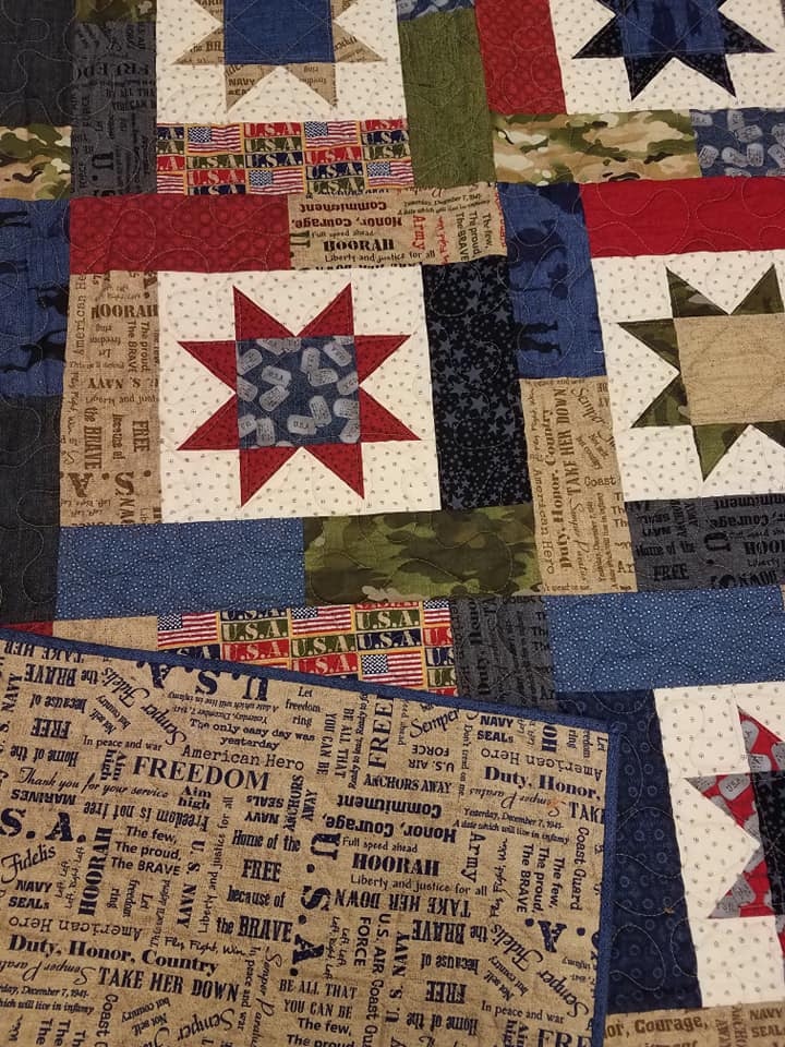Home Of The Brave- Finished Quilted