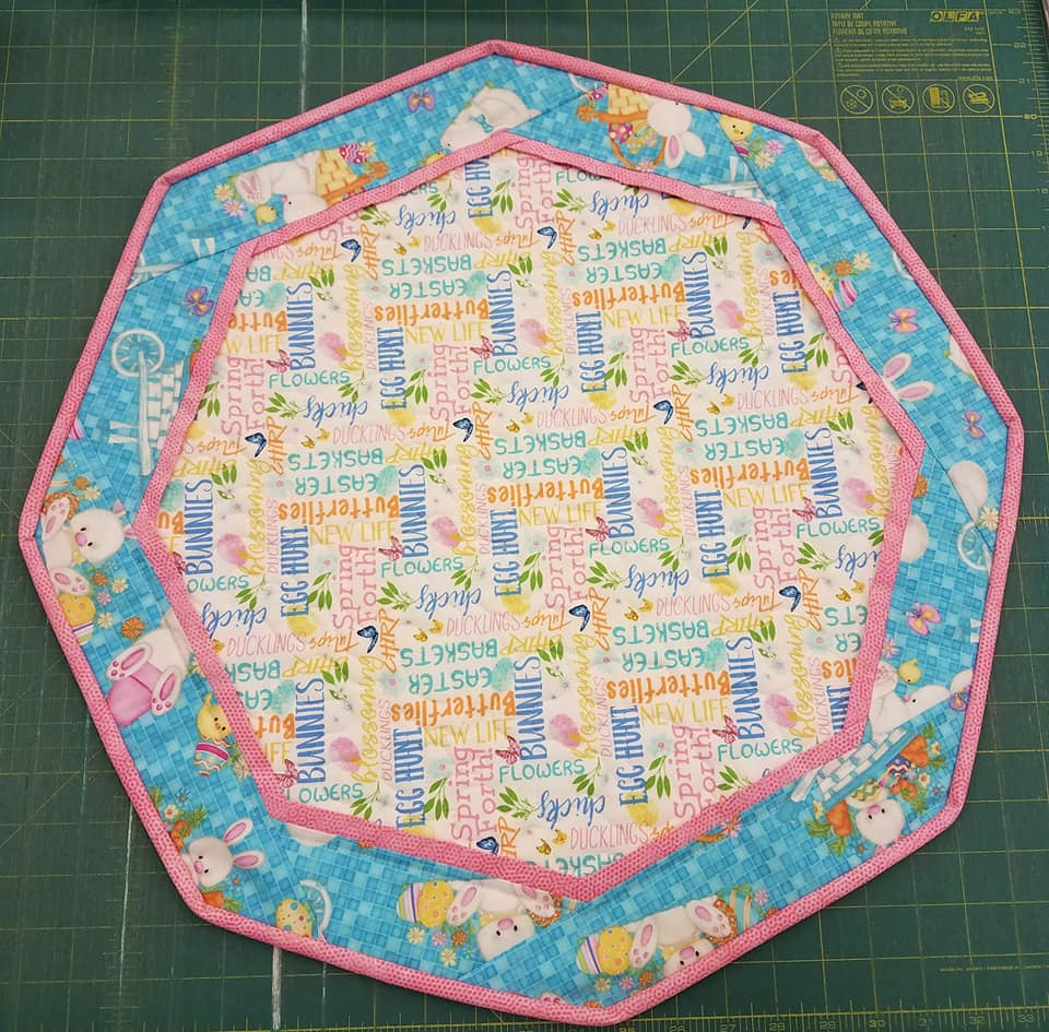 Bunnies, Flowers, Chicks- Fun Focus Table Topper (Words)