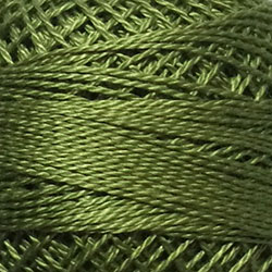 188 - Soft Olive Green Perle Cotton Solid Thread