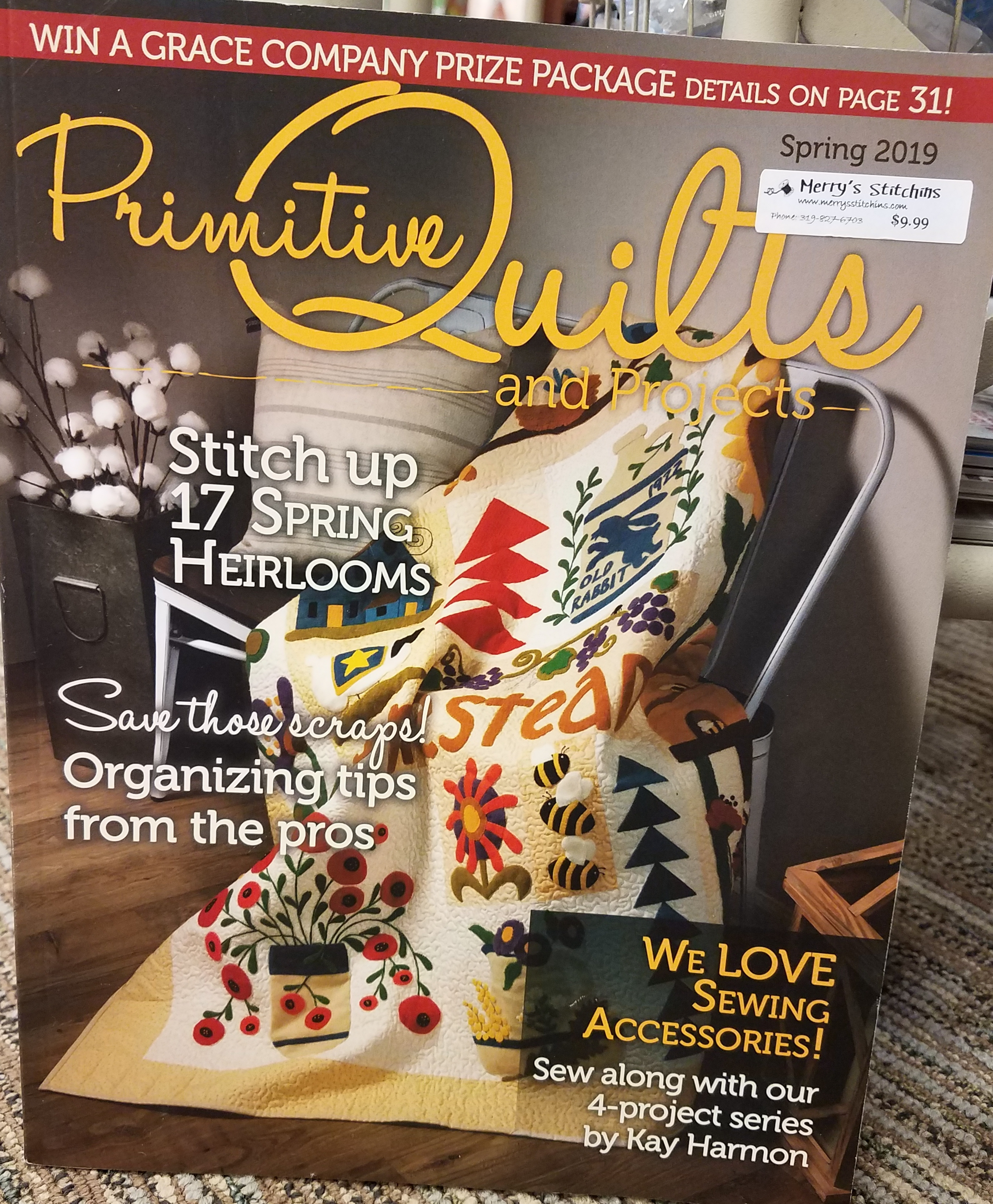 Primitive Quilts and Projects Magazine- Spring 2019