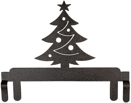 6 Christmas tree topper - charcoal
