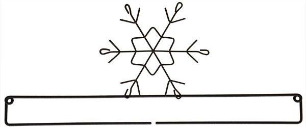 12 inch Snowflake Screw Split Bottom