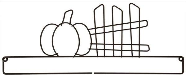 12 inch Pumpkin & Fence Screw Split Bottom